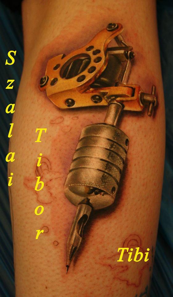 Tattoo Machine Realistic Micky Sharpz Color Forearm