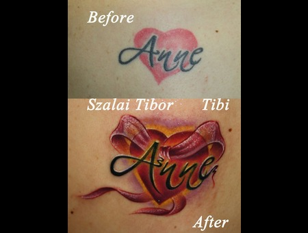 Cover Up  Lettering  Name  Heart  Color  Bow Color Shoulder