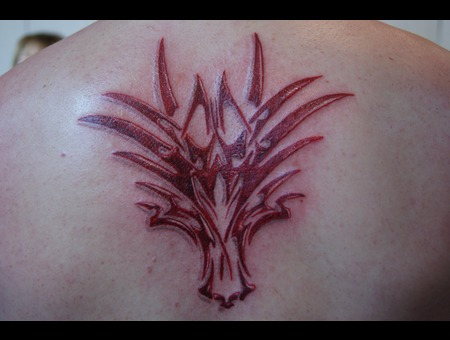 Dragon Head Tribal. Color Back