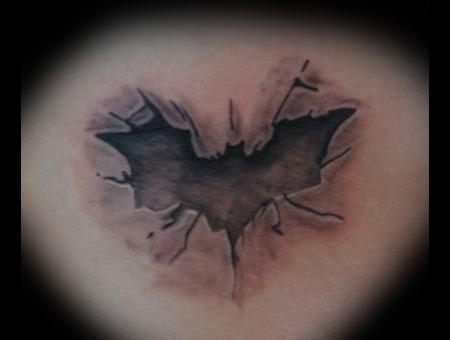 Batman. Black Grey Ribs