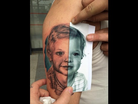 Portrait  Child  Blackandgrey  Color  Realistic  Realism Black Grey Arm