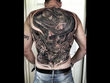 Big Back Piece Black Grey Back