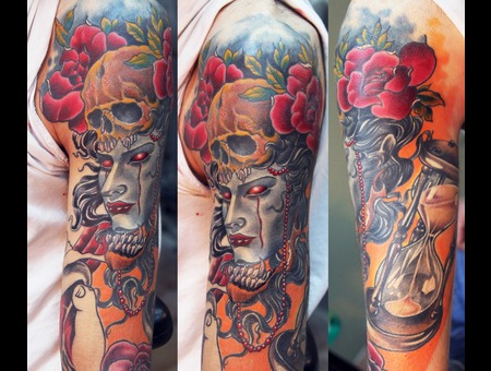 Vaso Vasiko Tattoo   Color Arm