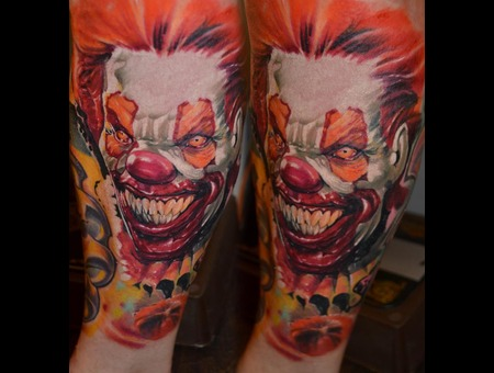 Clown It  Color Portrait Color Lower Leg