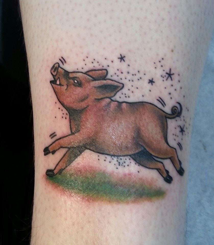Olivia ahonen certified artist for Pig skin tattoo