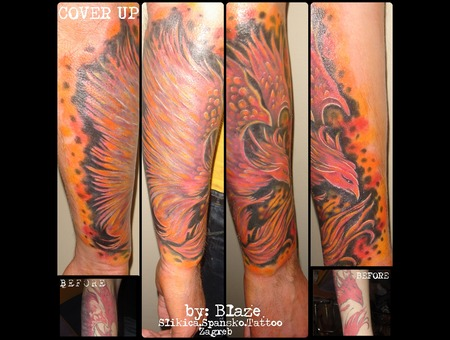 Phoenix In Color; Cover Up  Color Forearm