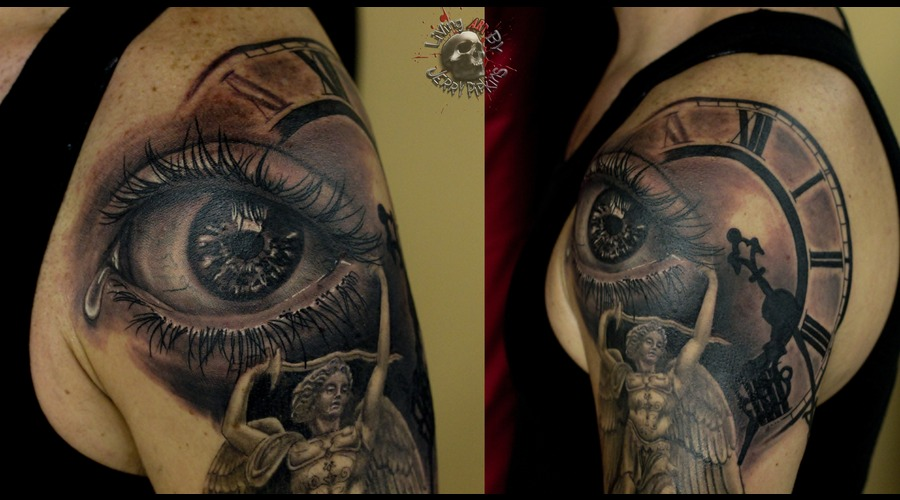 Eye  Realism  Black Grey Arm