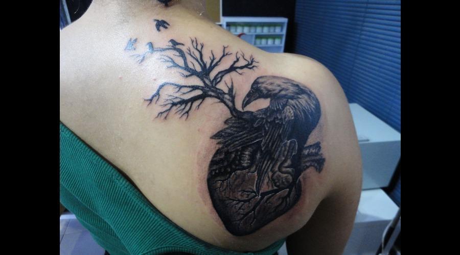 Tattoo  Tattoos  Art  Angel Tattoo  Angel Tattoos  Beautiful Tattoos  Dövme Black Grey Back