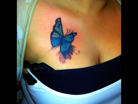 Butterfly Freehand Color Chest