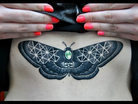 Dotwork Butterfly! Chest