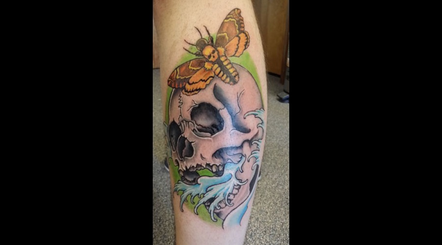 Skull Color Lower Leg