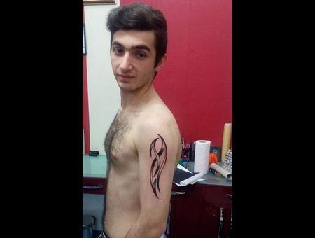 Letter  Aragon Tattoo  Sefaköy Kal?C? Dövme  Sefaköy Dövme  Black Grey Arm