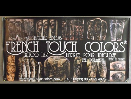 French Touch Colors  Sponsor  Ink  Black Grey Arm