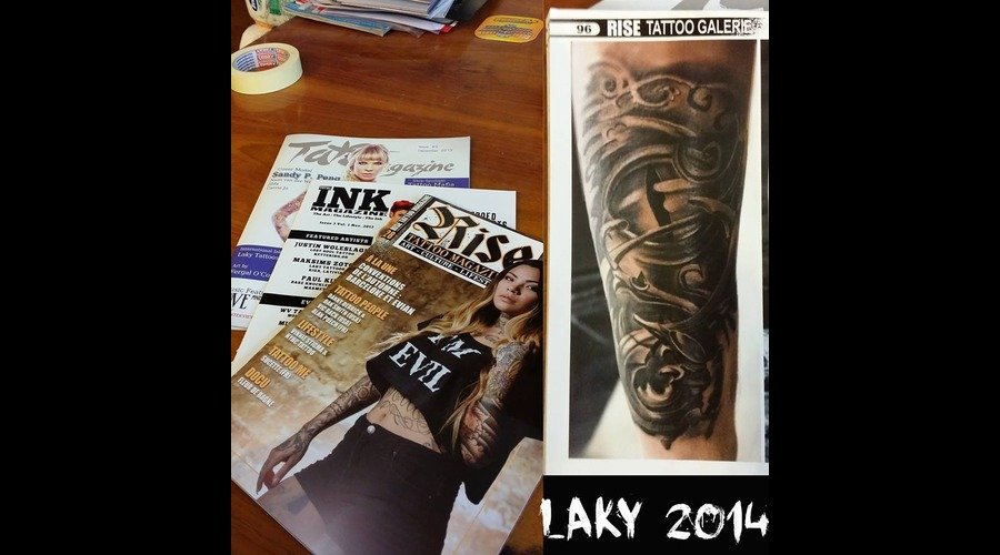 Rise Tattoo Magazine  Black Grey Forearm