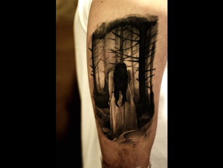 Laky  Laky Tattos  Horror  Realistic  Riga  Latvia  Black Grey Shoulder