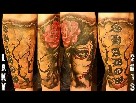Laky  Laky Tattos  Horror  Realistic  Riga  Latvia  Color Forearm