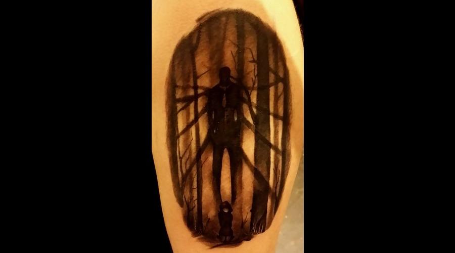 Laky  Laky Tattos  Horror  Realistic  Riga  Latvia  Black Grey Shoulder