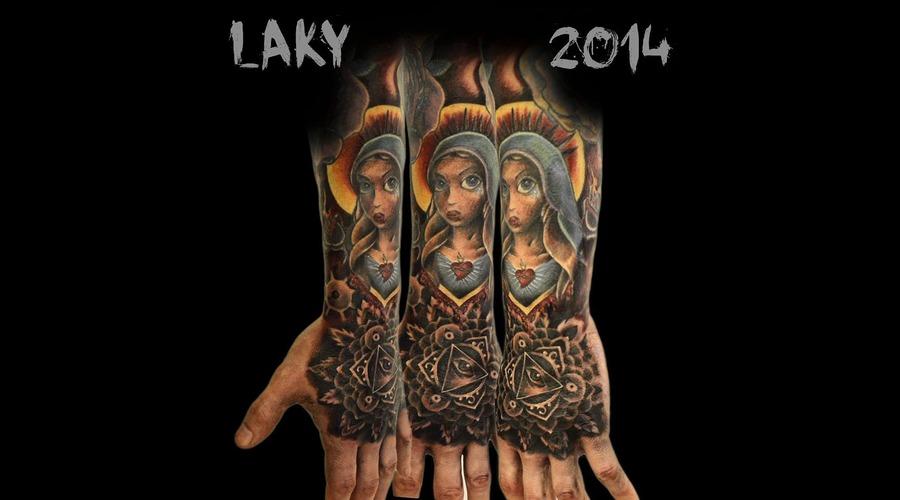 Laky  Laky Tattos  Horror  Realistic  Riga  Latvia  Color Forearm