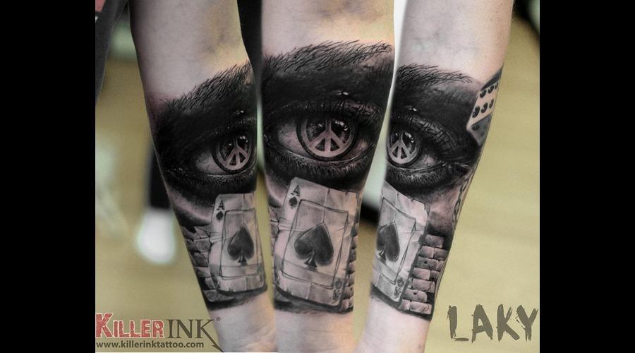 Laky  Laky Tattos  Horror  Realistic  Riga  Latvia  Black Grey Forearm