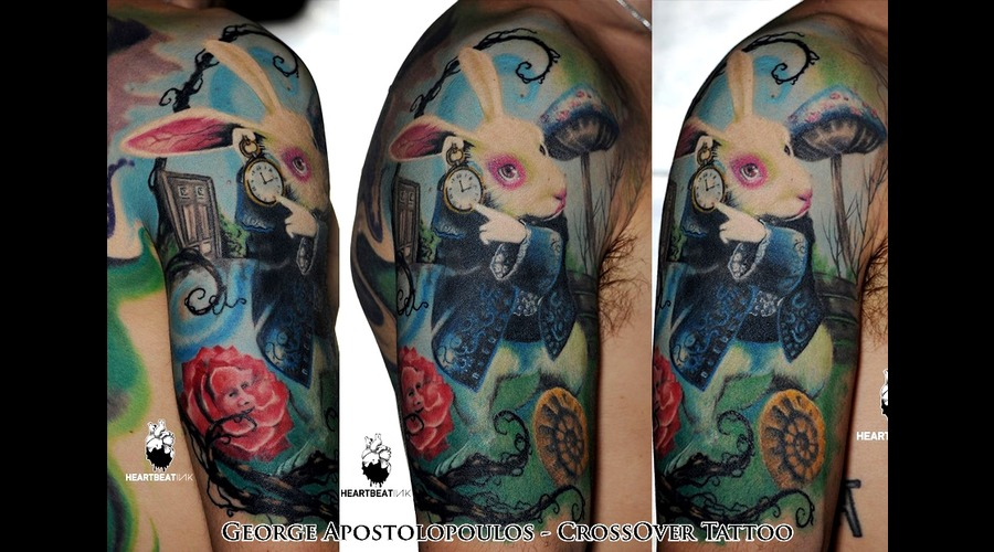 Alice In Wonderland  White Rabbit  Photo Realism Color Arm