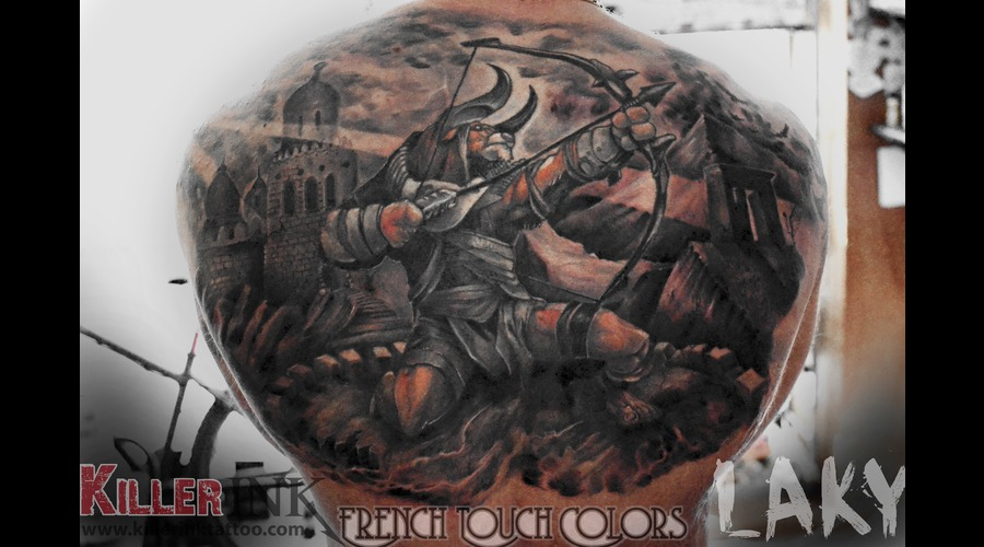 Laky Tattoo's Black Grey Back