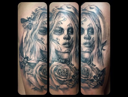 Day Of The Dead Black Grey Arm
