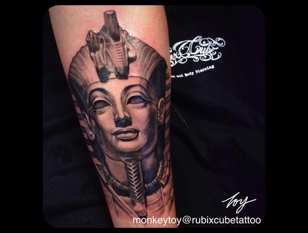 Pharaoh  King Tut Black Grey Forearm