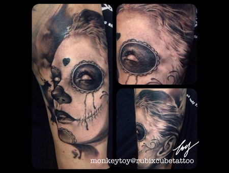 Day Of The Dead Girl Black Grey