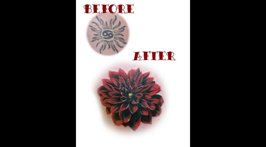 Flower  Dahlia  Realism  Cover Up Color Thigh