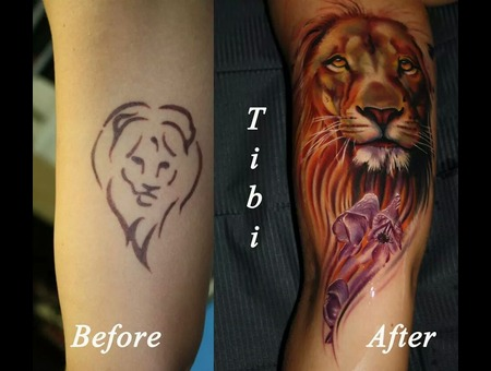 Cover Up  Lion  Color  Realistic Color Arm