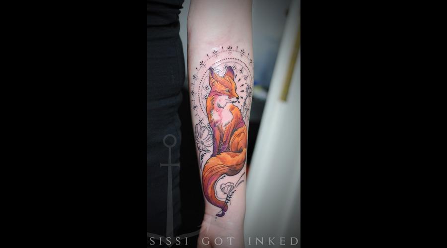 Summer Sunset Foxmandala Color Arm