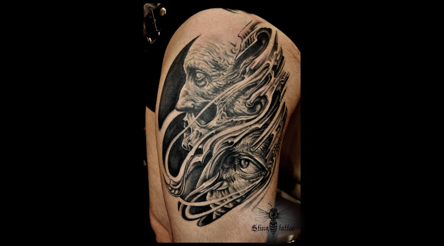 Face Portrait Skull Black Grey Lower Leg