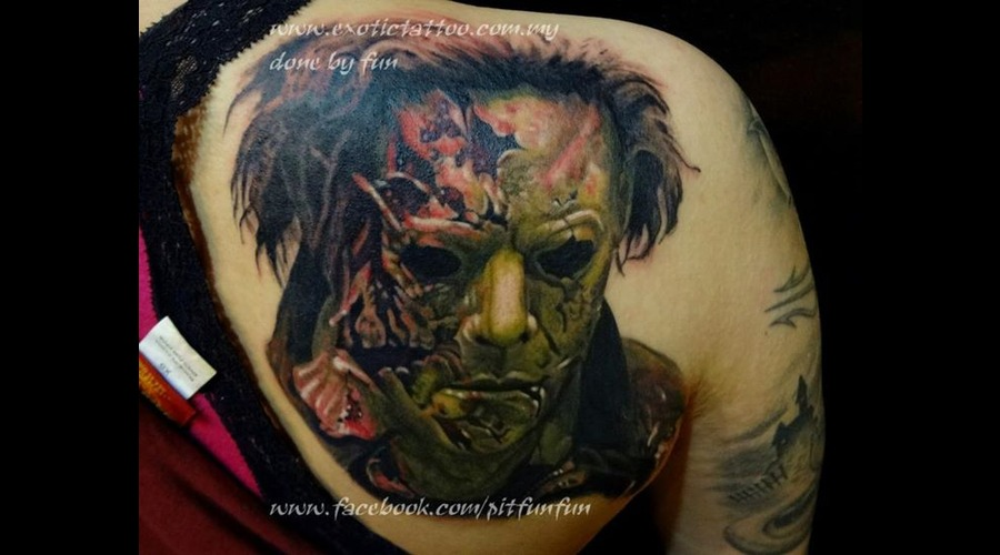 Michael Myers Tattoo  Support My Page At Www.Facebook.Com/Pitfunfun Color
