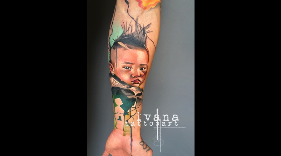 Portrait Of Harlem Color Forearm