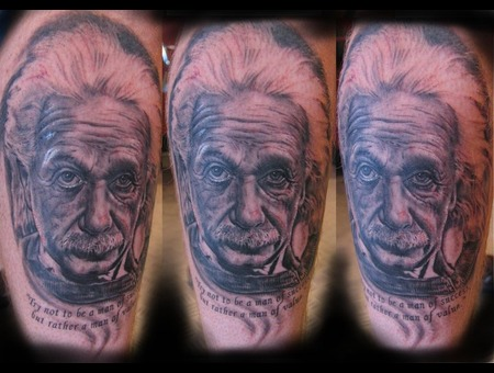 Portrait  Albert Einstein Black Grey Lower Leg