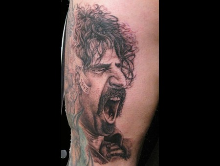 Frank Zappa  Portrait Black Grey Thigh
