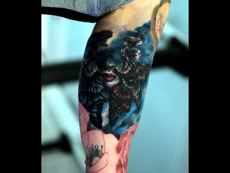 Laky  Lakytattoo  Lakytattoos  Horror  Tattoo  Realistic  Color Arm
