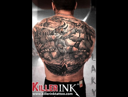 Laky  Lakytattoo  Lakytattoos  Horror  Tattoo  Realistic  Black Grey Back