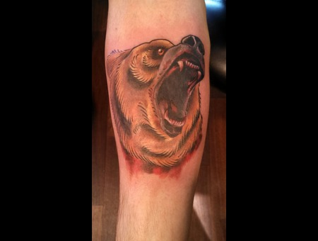 Bear Tattoos  Color Tattoo  Traditional Tattoos Color Forearm