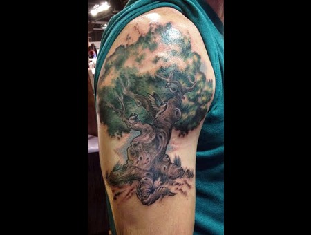 Tree Tattoos  Family Tree  Finches  Color Tattoos  Family Tattoos Color Arm