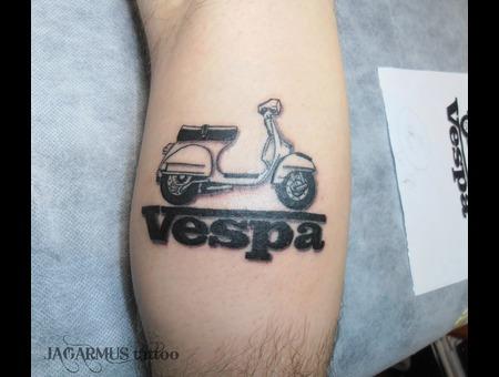 Moto Vespa Black Grey Lower Leg