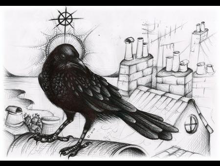 Saint Wise Drawing Santa Perpetua Black Grey