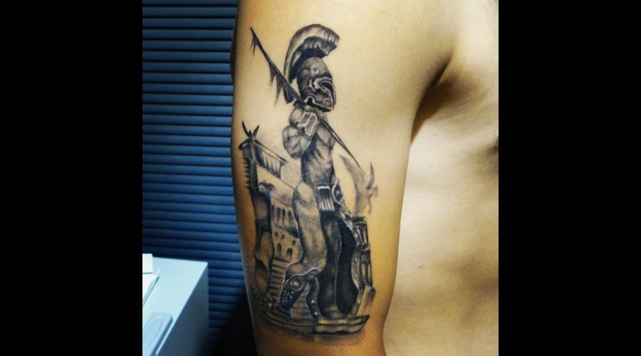 Skull Tattoos  Bird Tattoos  Angel Tattoos  Tattoos  Tattnroll  Tatt'n'roll Black Grey Arm