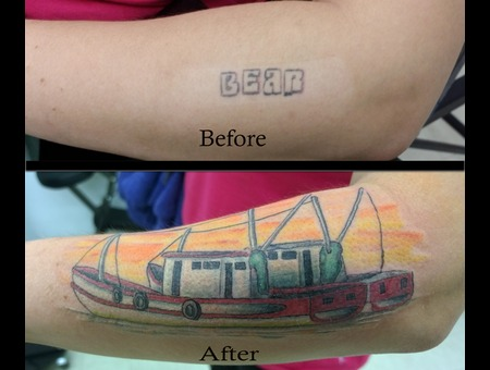 Cover Up Boat Color Forearm