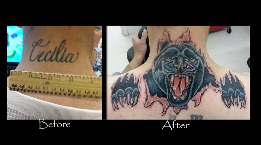 Cover Up Panther Color Neck