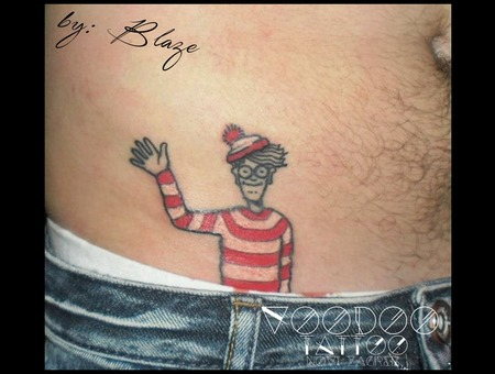 Where Is Waldo? Tattoo By Blaze Color Hip