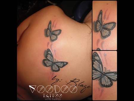 Butterflys Tattoo By Blaze Color Back