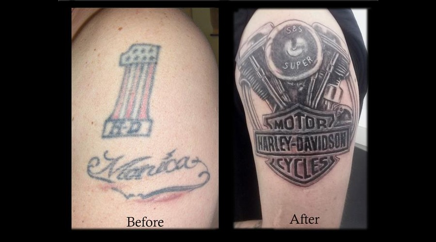 Cover Up Harley Black Grey Arm