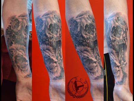 Lion  Skull Arm