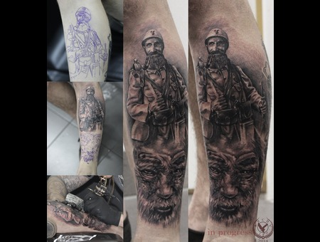 Soldier  War  World War  Portrait  Old Face   Lower Leg